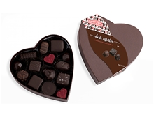Dark Assorted Small Heart Box