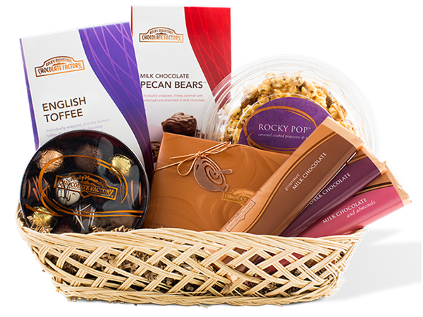 Rocky mountain chocolate factory decadence basket mother39s day decadence chocolate gift baskets negle Choice Image