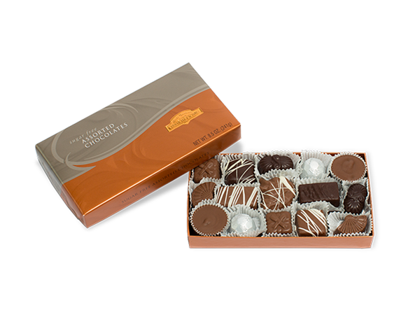 Sugar Free Assorted Chocolates Gift Box 8 Oz