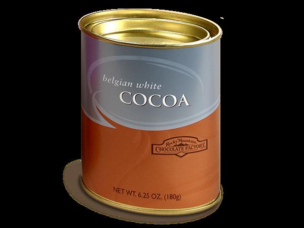 belgian white cocoa tin