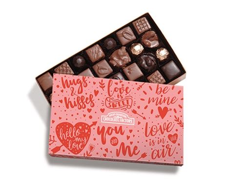 Gourmet Nut & Caramel Gift Box with Valentine Sleeve