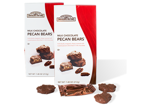 Bite-Sized Milk Chocolate Pecan Brown Bear®